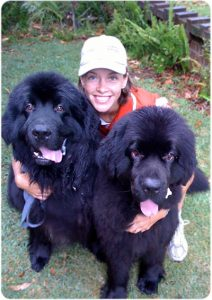 Carol-with-2-big-dogs